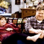 Roseanne Barr and John Goodman