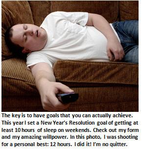 New Years Resolutions - sleeping
