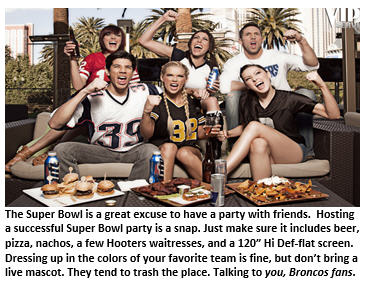 Super bowl - Party fans