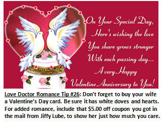 Valentine Tip 17 When planning a romantic getaway dont forget