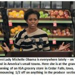 First Lady Michelle Obama – Coming soon to an Applebee's near you