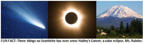Seattle rain - Halleys Comet