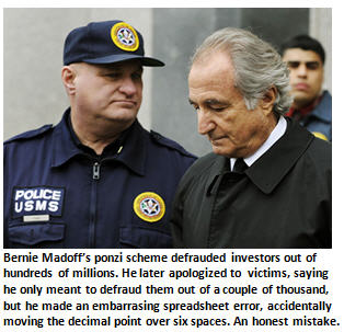 Apology - Bernie Madoff