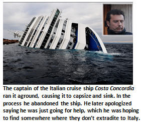 Apology - Cruise ship