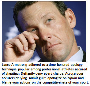 Apology - Lance Armstrong