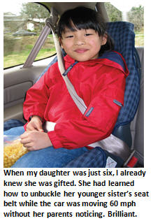 Worlds smartest person - car seat