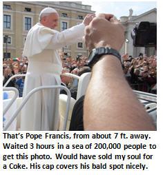 Italy vacation - Pope Francis