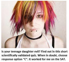 evil teenager - girl with red hair