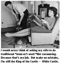 wedding vows - man doing chores