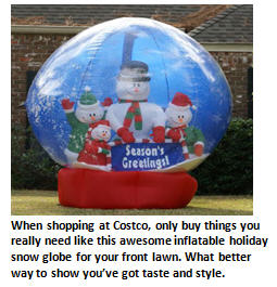 Costco - snowglobe