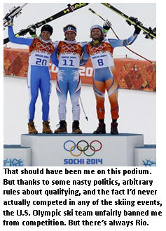 Winter Olympics - winners podium