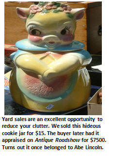 yard sale - cookie jar - email