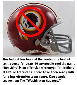 Redskin helmet - No Indian