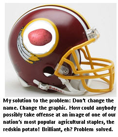 Redskin helmet - with potato