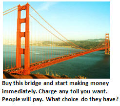 debt problem - Golden Gate Bridge