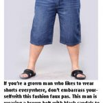 Fashion advice for men who wear shorts