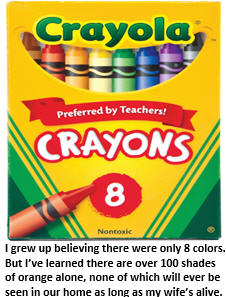 50 shades of white - crayons