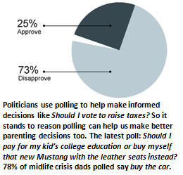 parenting by polling - pie chart