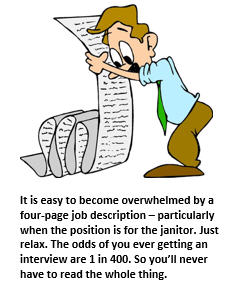decoding a job description - cartoon