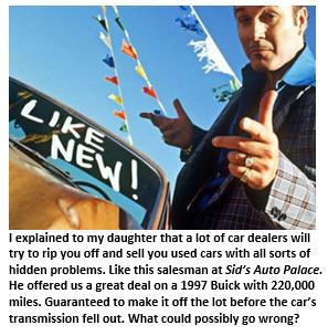 Car purchase - car salesman