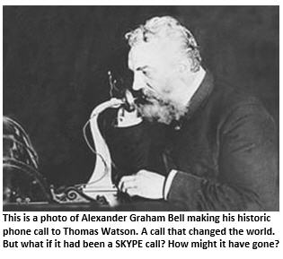 Alexander Graham Bell's first phone call – using Skype