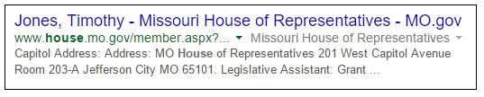 Google Tim - Missouri House