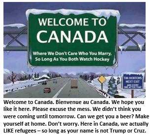 Welcome to Canada - Welcome sign