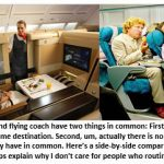 Flying Coach vs. First Class