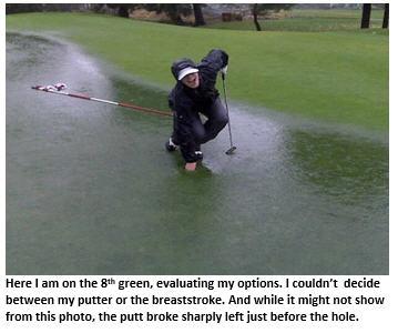 swingin in the rain - flooded green