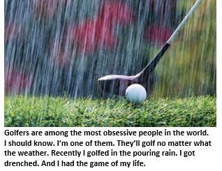 swingin in the rain - tee shot
