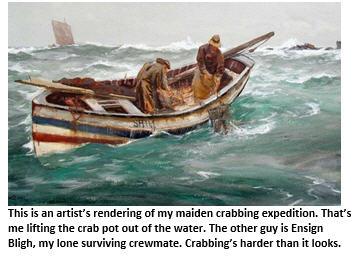 crabbing - rowboat