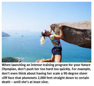 2028 Olympics - girl on cliff