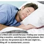 The Joy of Sleeping